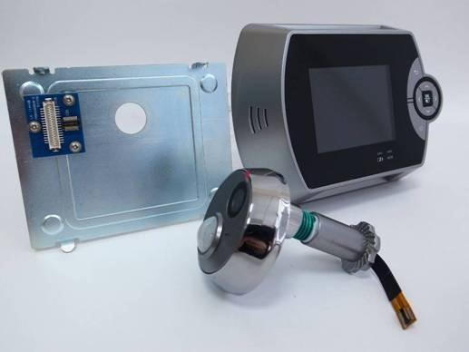 The digital door viewer peephole viewer vs door cam for Door viewer camera