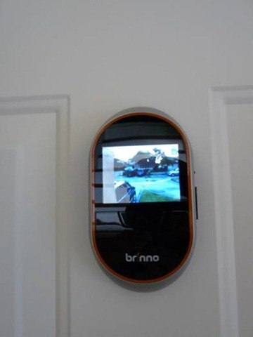 Peephole is the best place for your front door security for Front door video camera